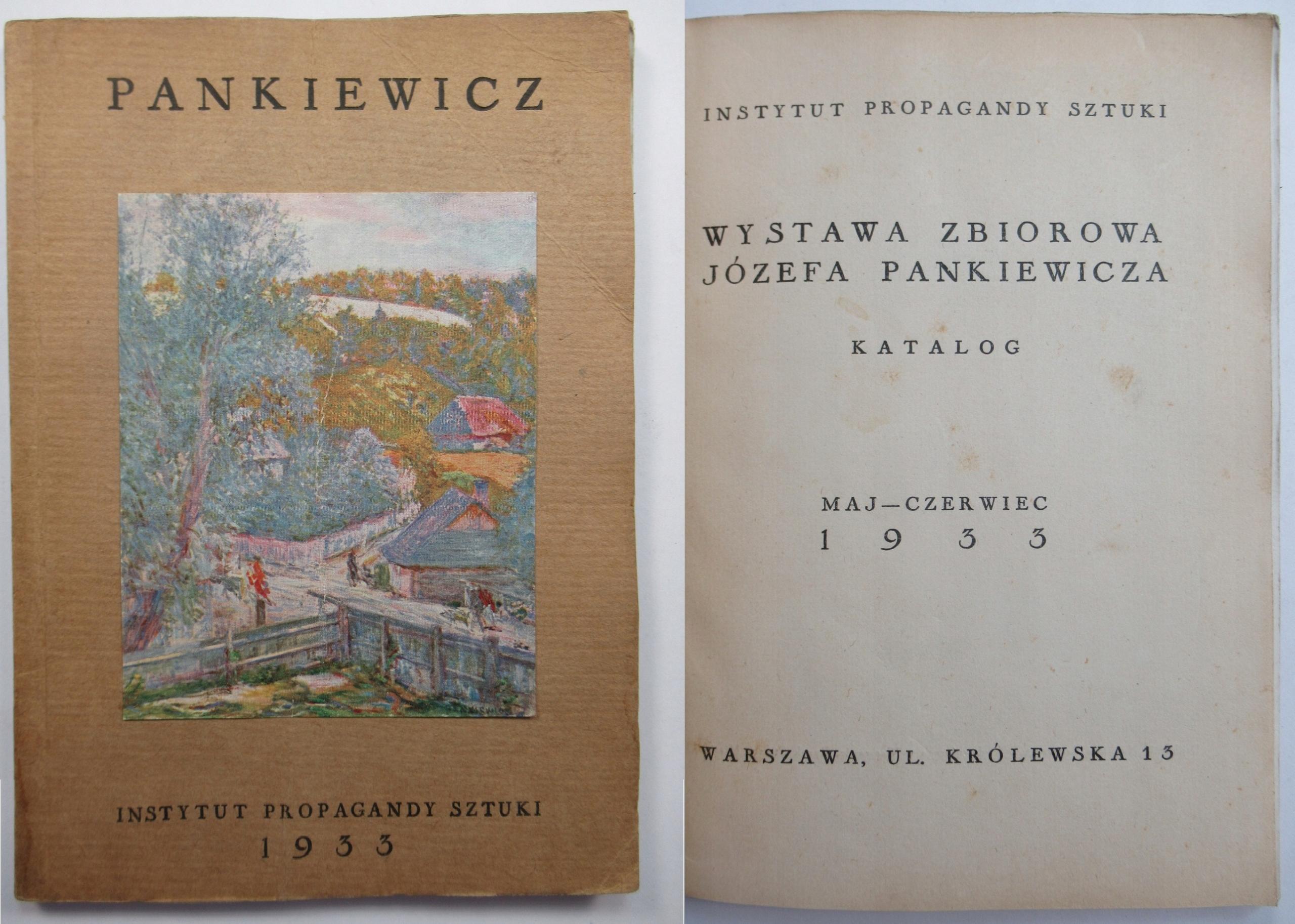 Каталог выставки Юзеф Панкевич, 1933, ИЛЛЮСТРАЦИИ