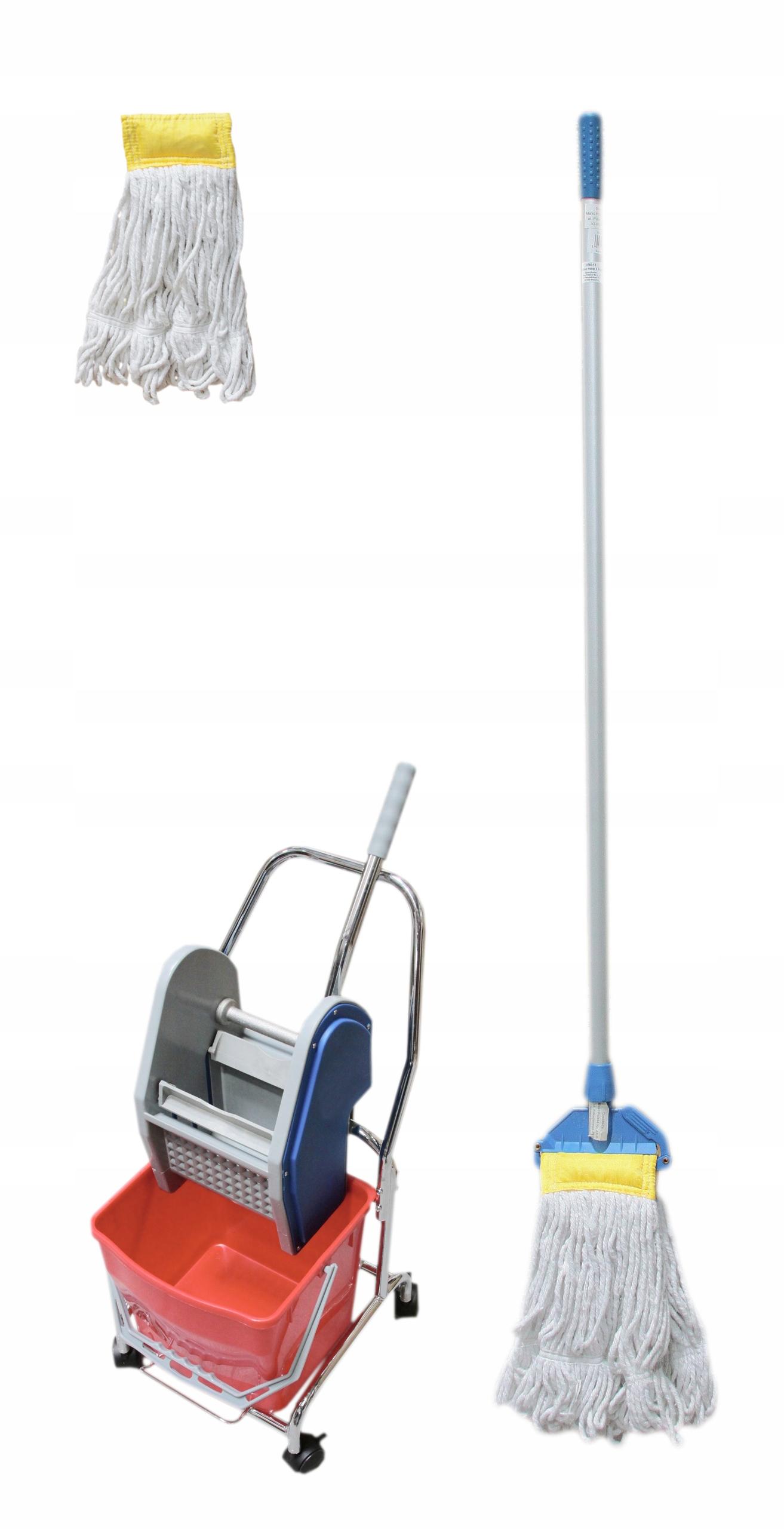 Набор тележка для sprzątania30L+мот kantucky+запас