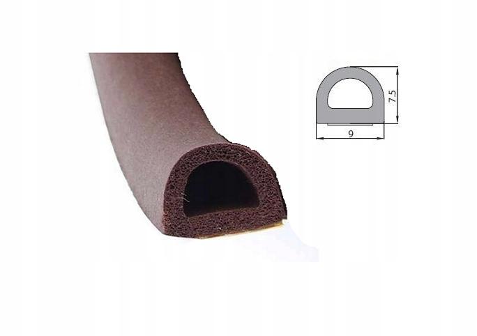 USZCZELKA SAMOPRZYLEPNA BRĄZOWA D 9X7,5mm 100 mb Jakość części (zgodnie z GVO) P - zamiennik o jakości porównywalnej do oryginału