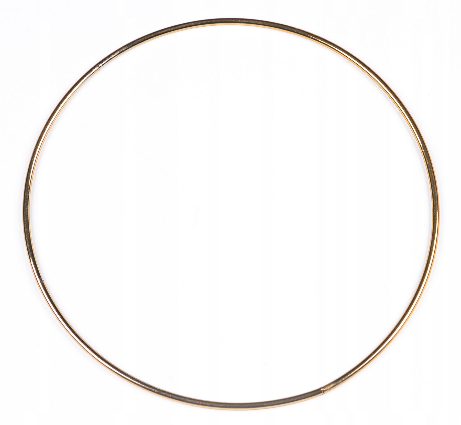 ZŁOTA metalowa obręcz kółko do łapaczy snów 30 cm