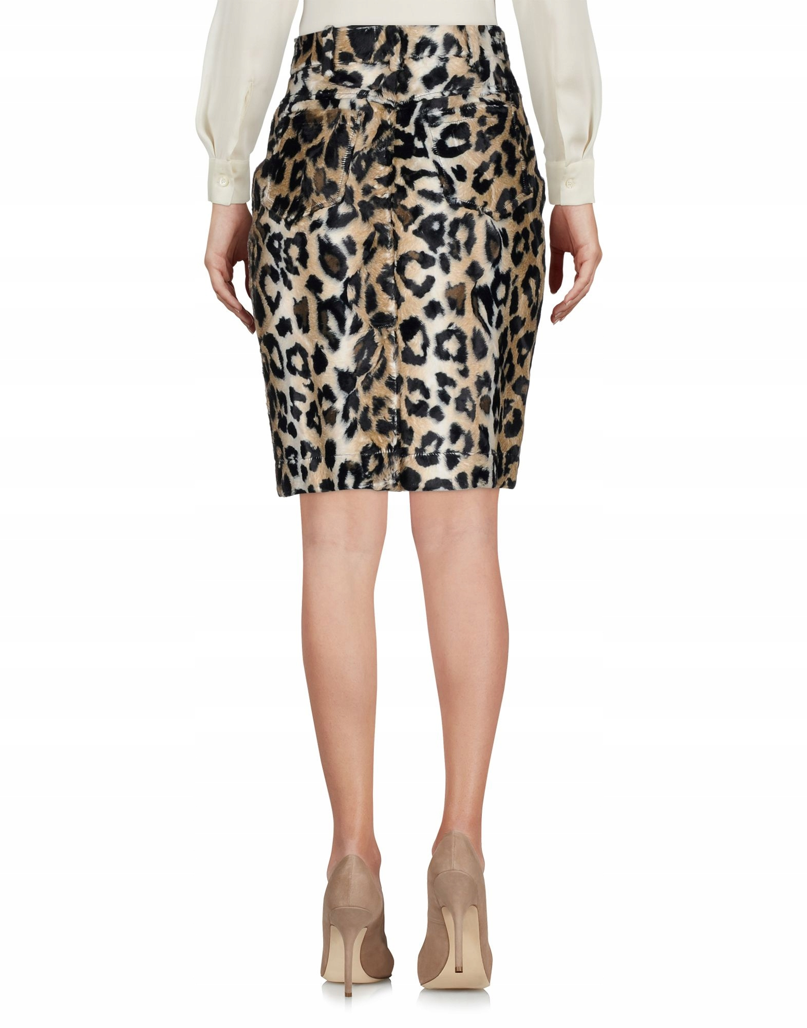 JEREMY SCOTT leopard pattern fitted skirt