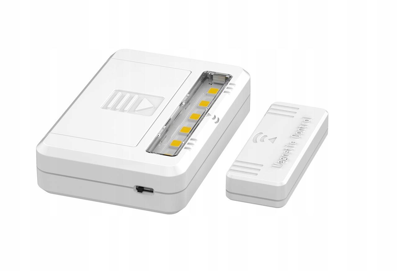 Lampka meblowa LED 2szt 2xAAA na baterie + czujnik 8314425691 - Allegro.pl