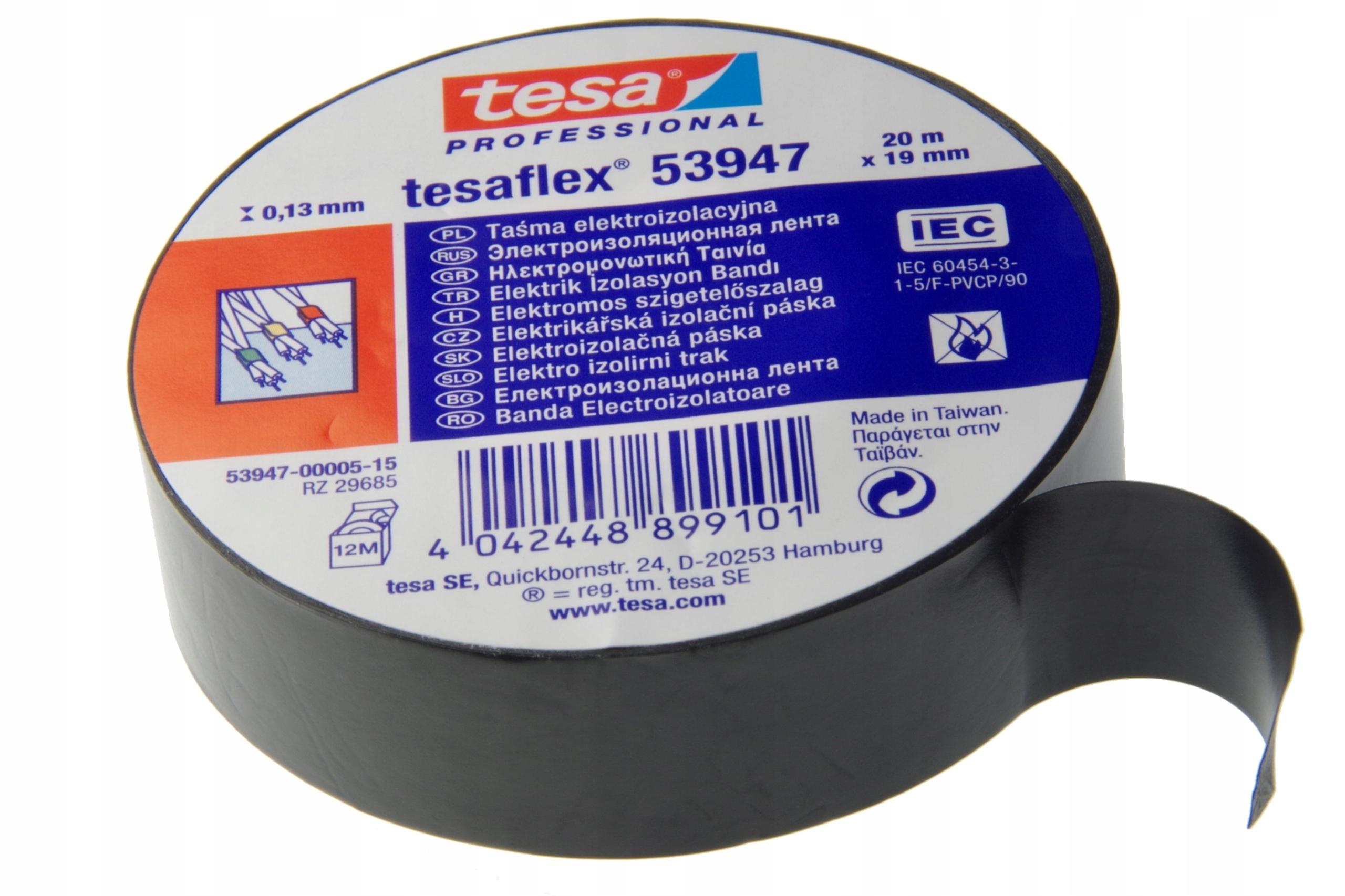 Купить Mocna taśma izolacyjna TESA PCV 20m/19mm BLACK на Otpravka - цены и фото - доставка из Польши и стран Европы в Украину.