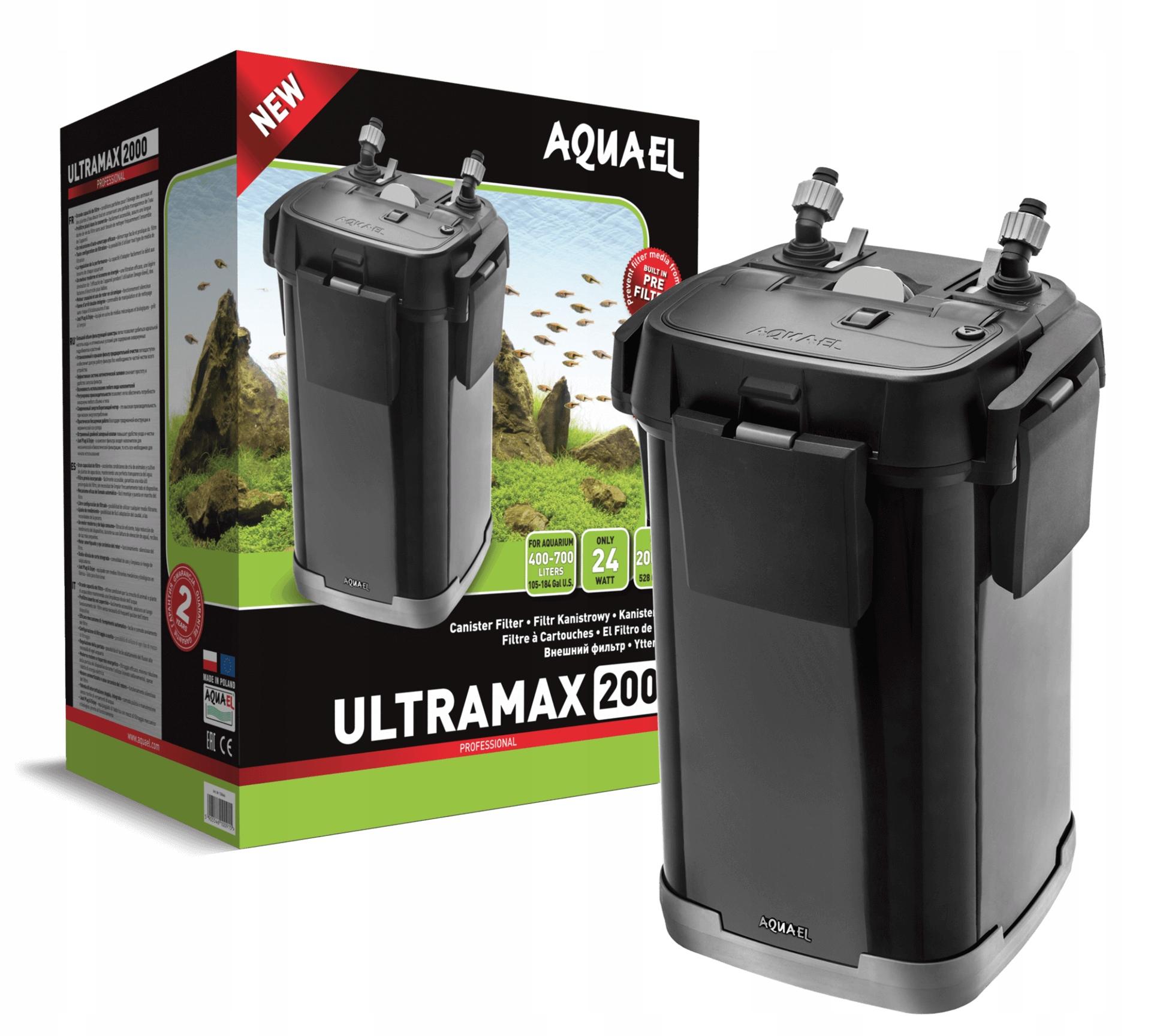 AQUAEL FILTR ZEWNĘTRZNY ULTRAMAX 2000 DO 400-700L