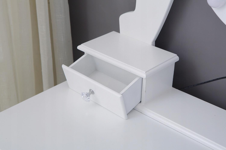 KOZMETICKÉ Záchod S LED ZRKADLOM BIELY + STOLICA Montážny nábytok pre vlastnú montáž