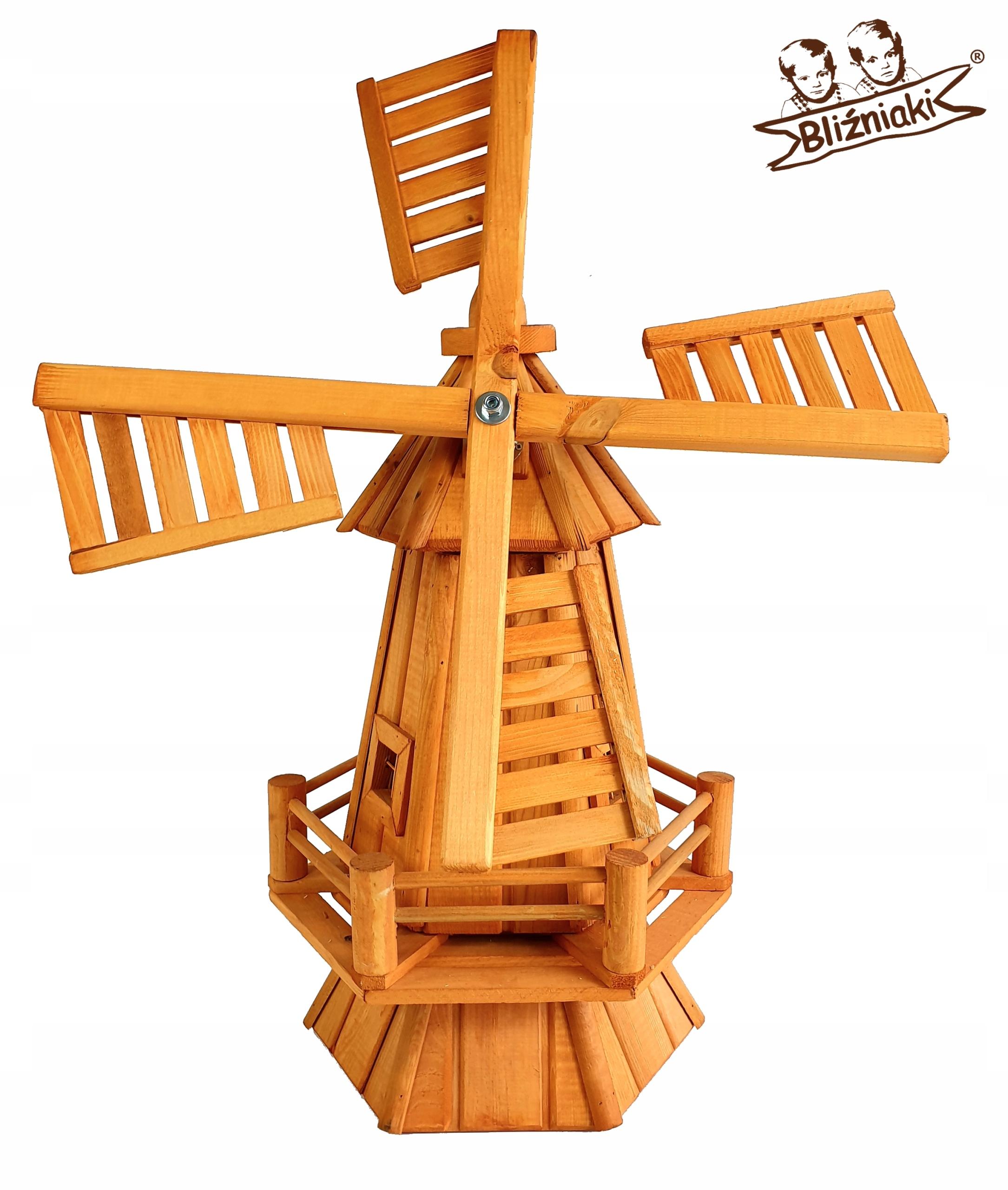 Dekoratívne veterný MLYN ZÁHRADNÝ drevený Veterný Mlyn
