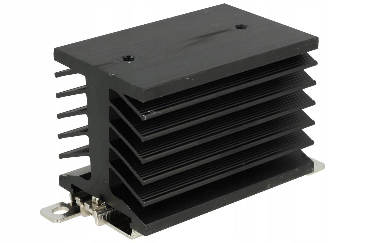 Radiátor pre SSR 60A Relé na DIN 35mm Rail