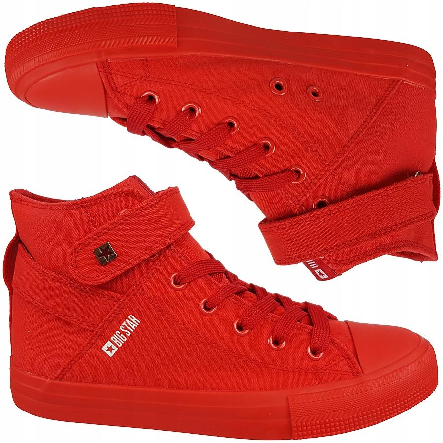 Trampki Big Star damskie czerwone wysokie FF274580