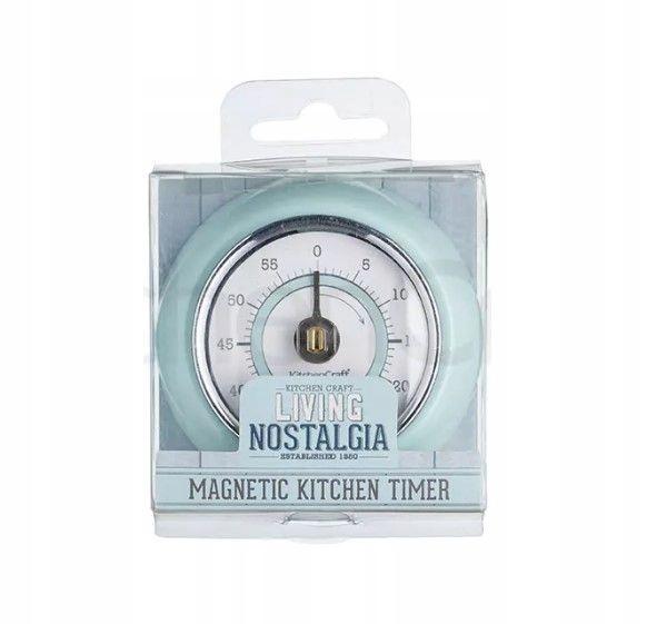 Kuchynský časovač Kraft s mätovým retro magnetom