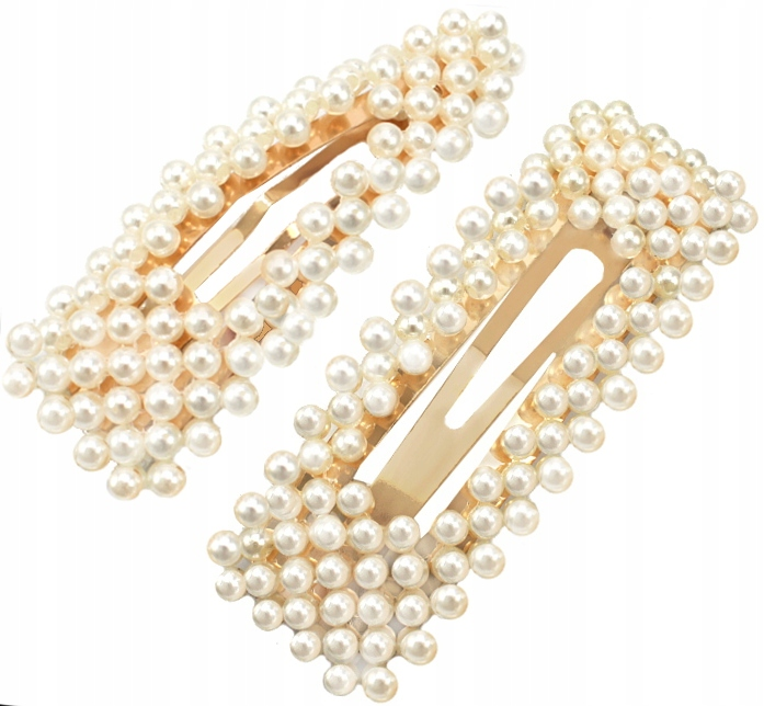 Item BARRETTE GOLD BEADS GLAMOUR CAMPAIGN