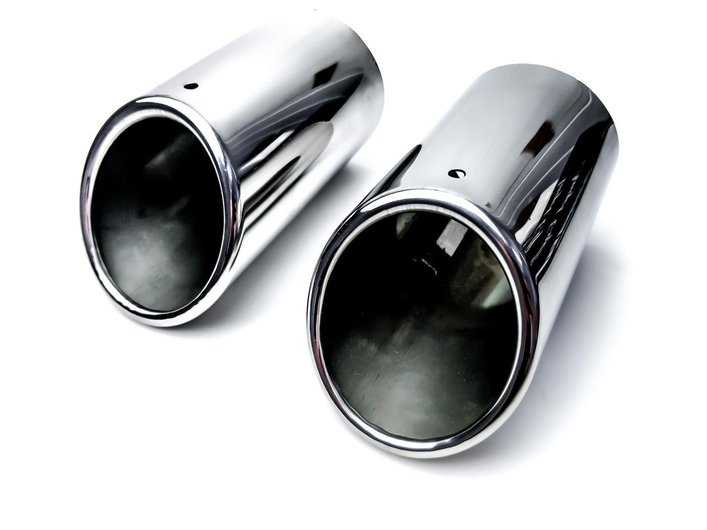 2 наконечники выдохе накладки audi bmw vw seat skoda
