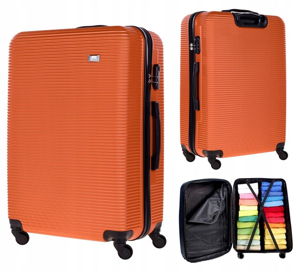 WALIZKA ŚREDNIA PODRÓŻNA KÓŁKA BAGAŻ EXCLUSIVE 808 Kolor inny kolor