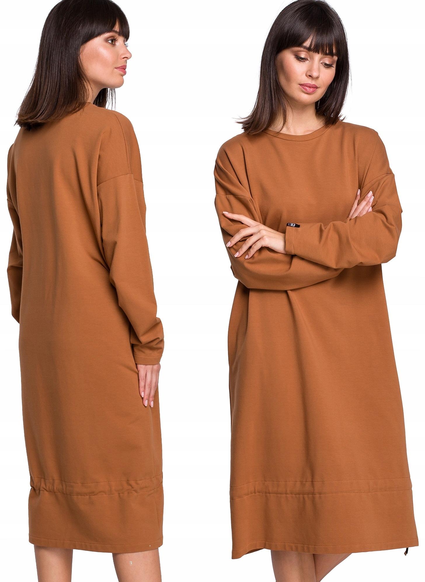Długa Dresowa Sukienka Oversize luźny fason S/m