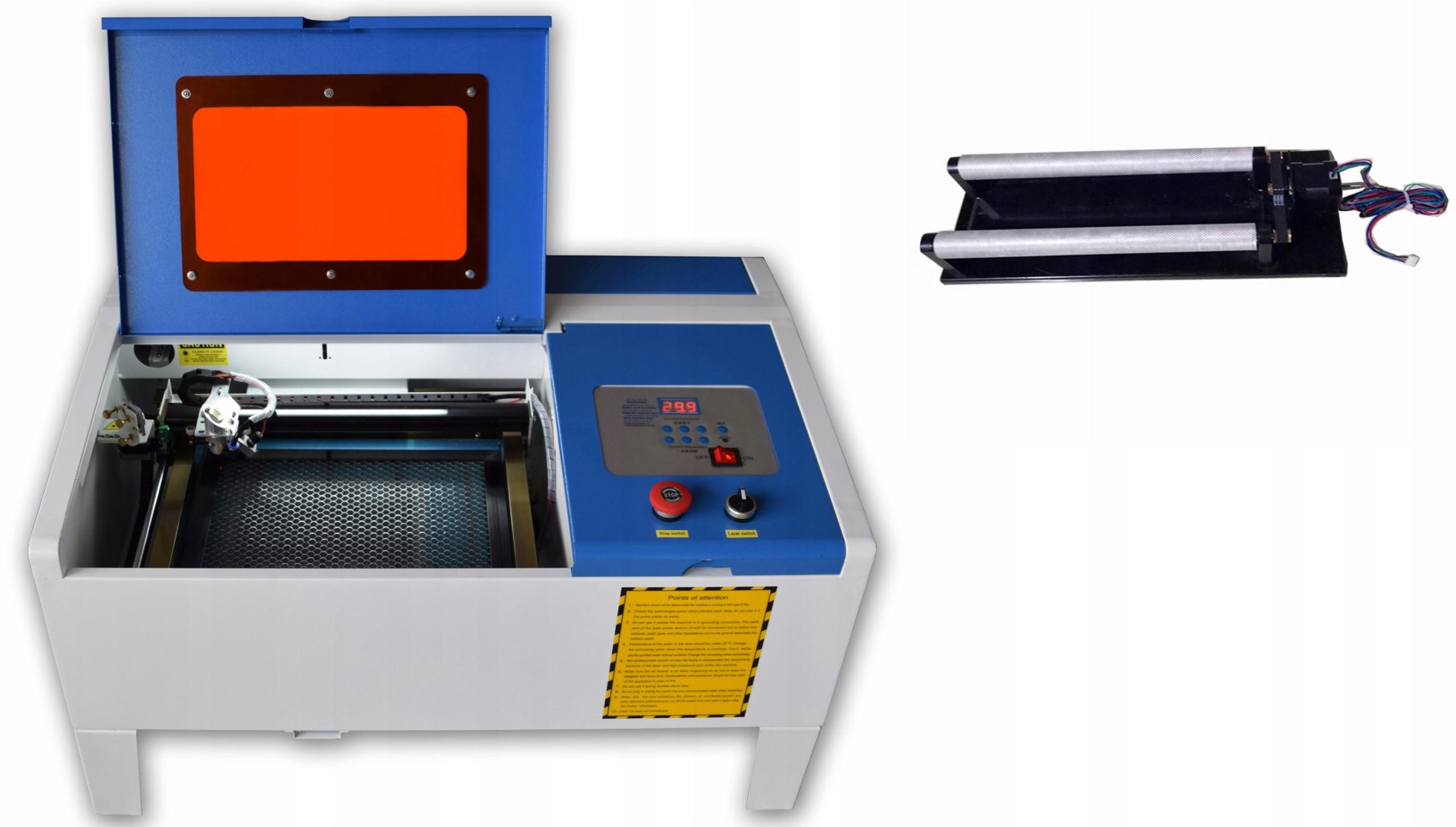 CO2 Laser Plotter 35x24cm 40W graving + doplnky