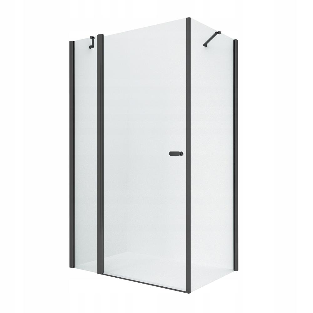 NOVINKA SOLEO Čierny sprchovací kút 100x80 x195 cm