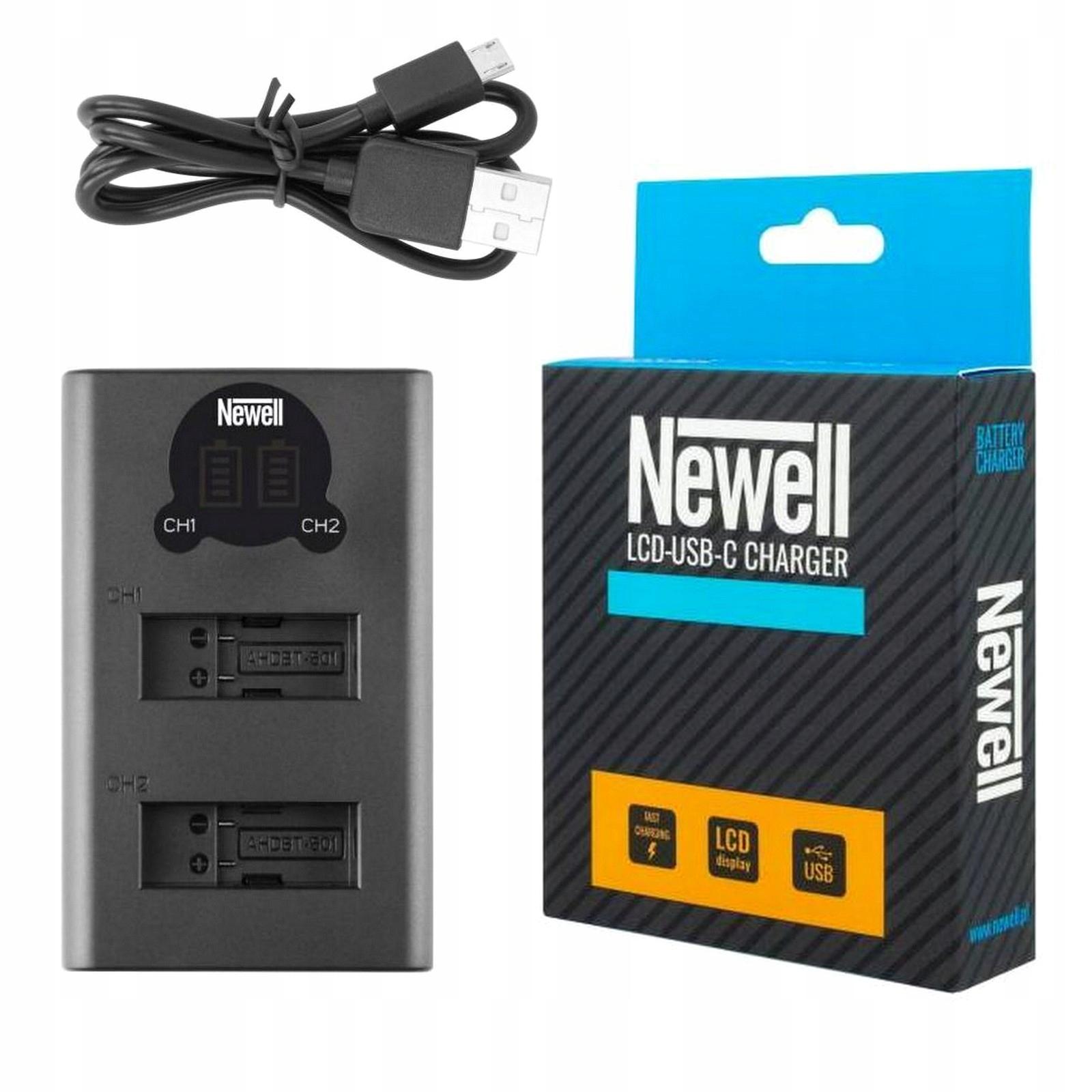 Купить Зарядное устройство ЖК-ДВОЙНАЯ двухканальная Ньюэлл для GOPRO 7 на Otpravka - цены и фото - доставка из Польши и стран Европы в Украину.