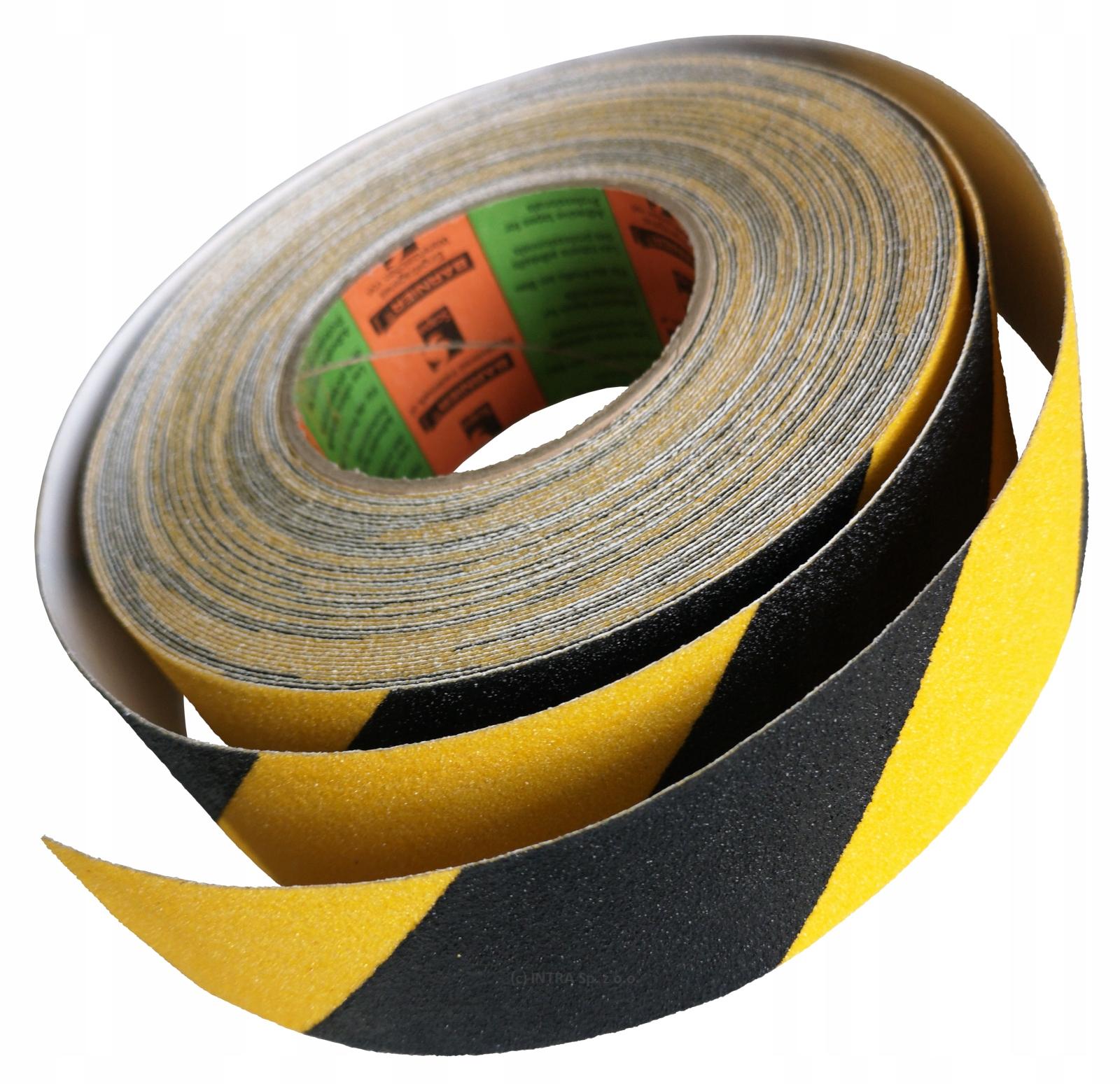 BHP Лента противоскользящая 50мм/18м желто-черная PRO