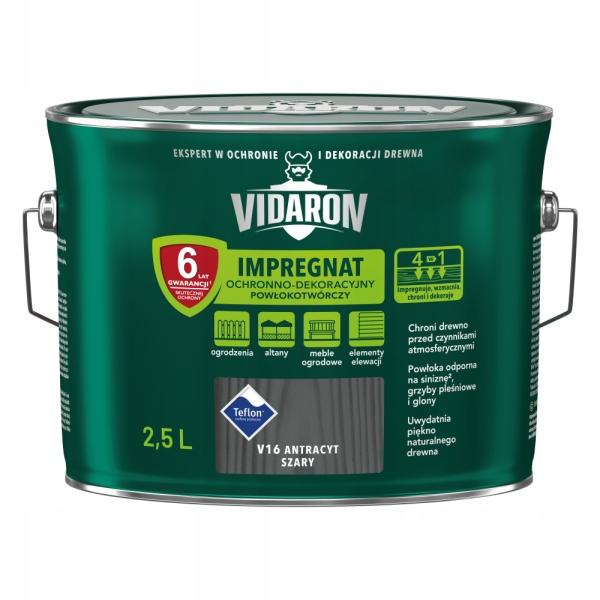 VIDARON Импрегнат декоративный 2.5 Л Антрацит-Серый