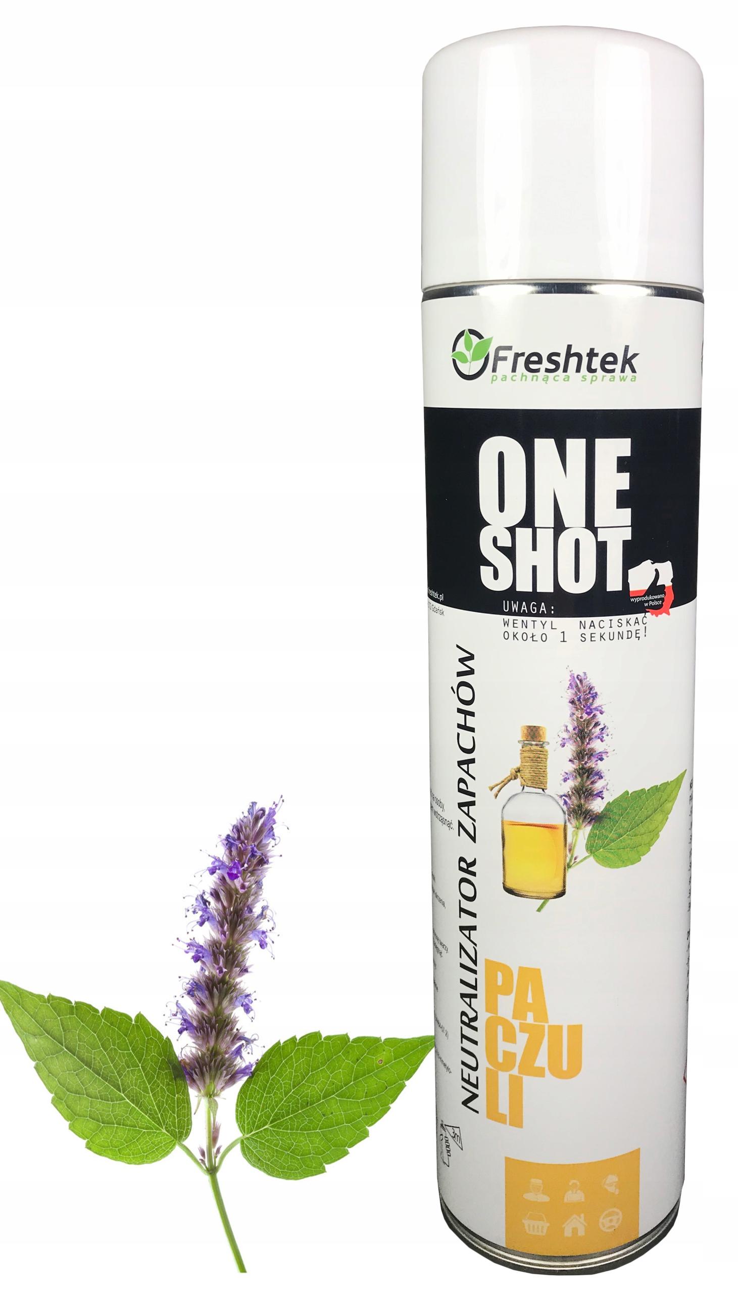Neutralizator zapachów Freshtek ONE SHOT PACZULI