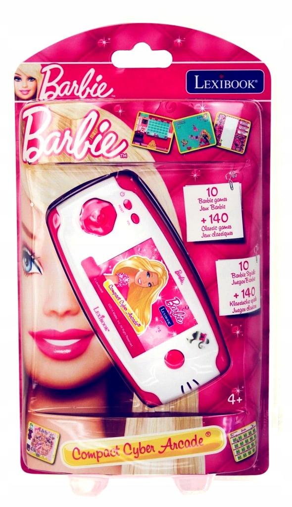 Vrecková konzola Barbie pre deti 150 hier