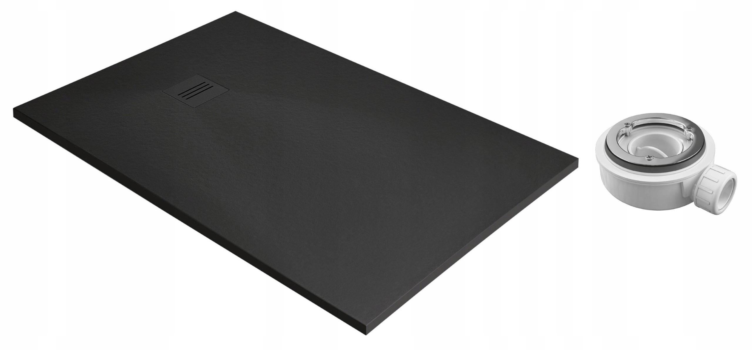 RADAWAY Sprchová vanička Kyntos F čierna 180x70 sifón