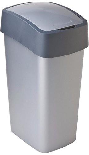 Kosz na śmieci Flip Bin 50 L, Curver srebrno/szary