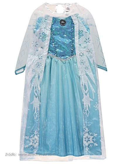 Sukienka ELSA i korona 134 140 Kraina Lodu LICENCJA