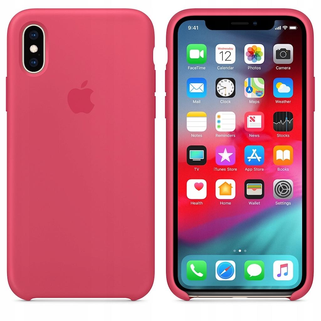 Etui silikonowe iPhone Xs / iPhone X (Hibiscus)