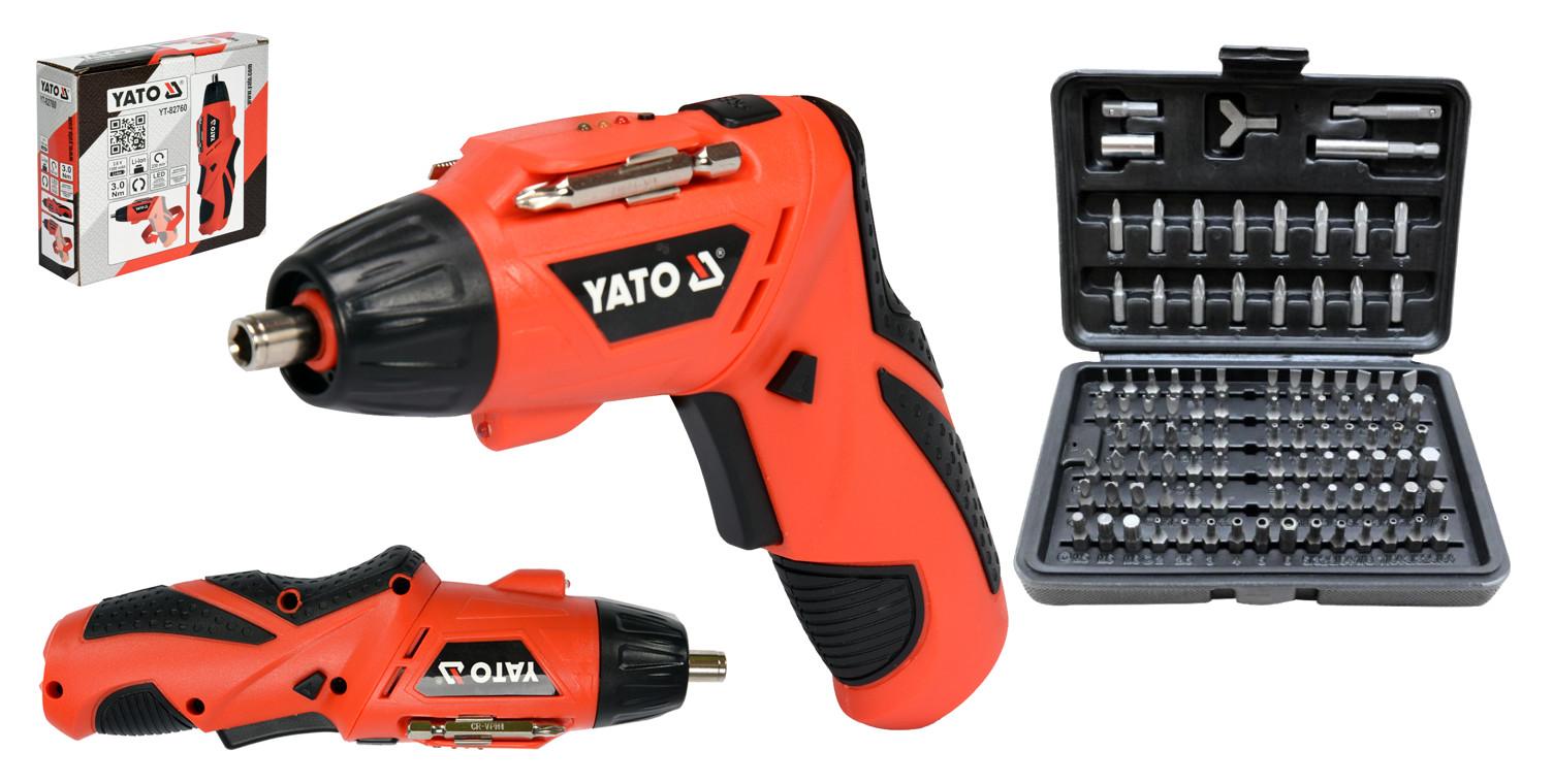 YATO WKRĘTARKA AKUMULATOROWA WKRĘTAK 3,6V +100 bit