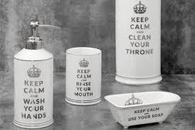 Stojatá kúpeľňová zostava KEEP CALM 4 ks