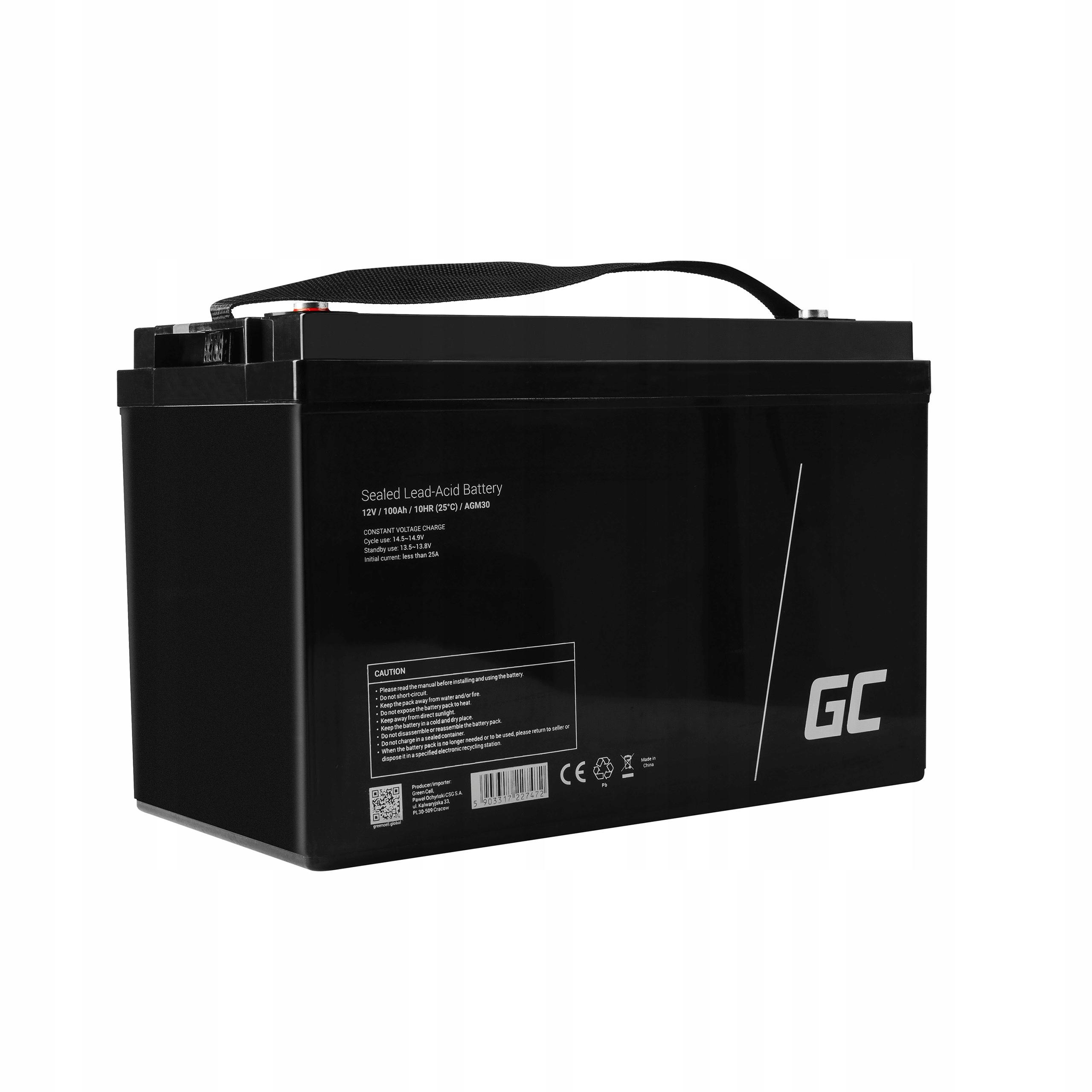 Аккумулятор AGM для швертбота 12V 100Ah