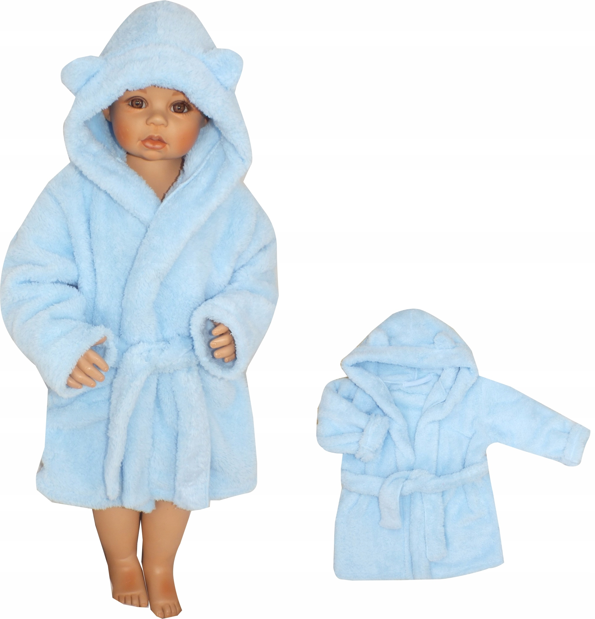 cb8546a1e618be Szlafrok dziecięcy niemowlęcy ciepły misiowy 98 7581098444 - Allegro.pl