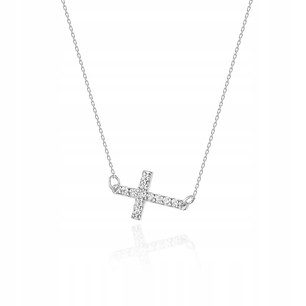 Biele zlato náhrdelník s diamantmi celebrytka 585