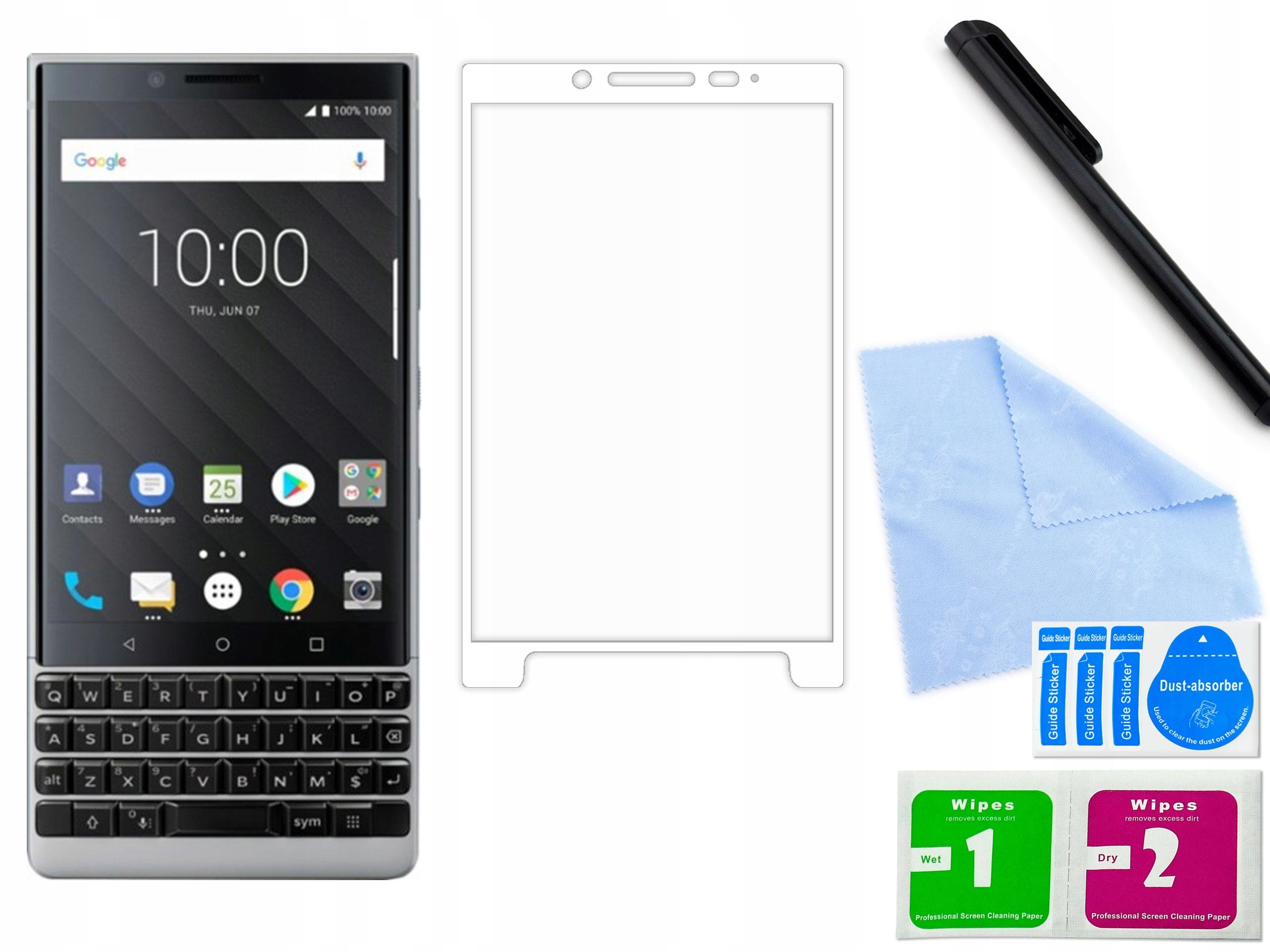 Zaokrąglone szkło Blackberry KeyTwo Białe