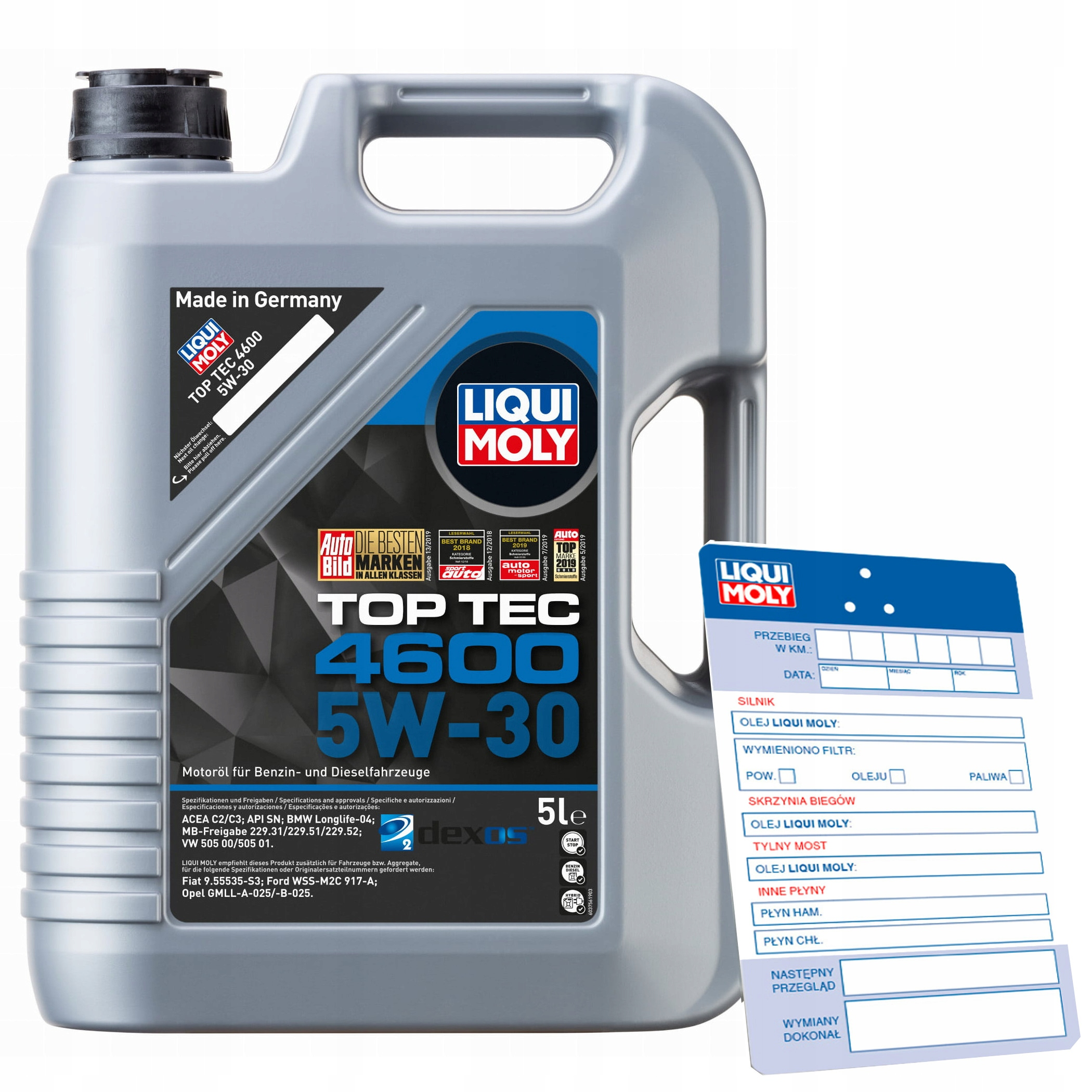 Olej Liqui Moly Top Tec 4600 5W30 5L / 5 litrów