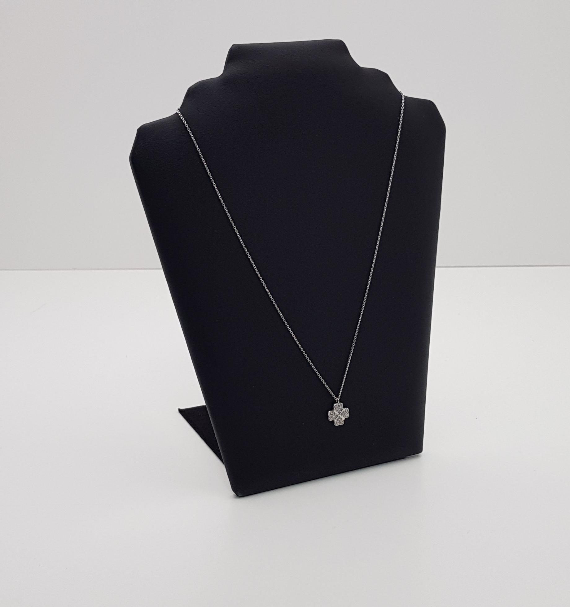 -60% Prívesok Reťazca biele zlato 750 Diamanty