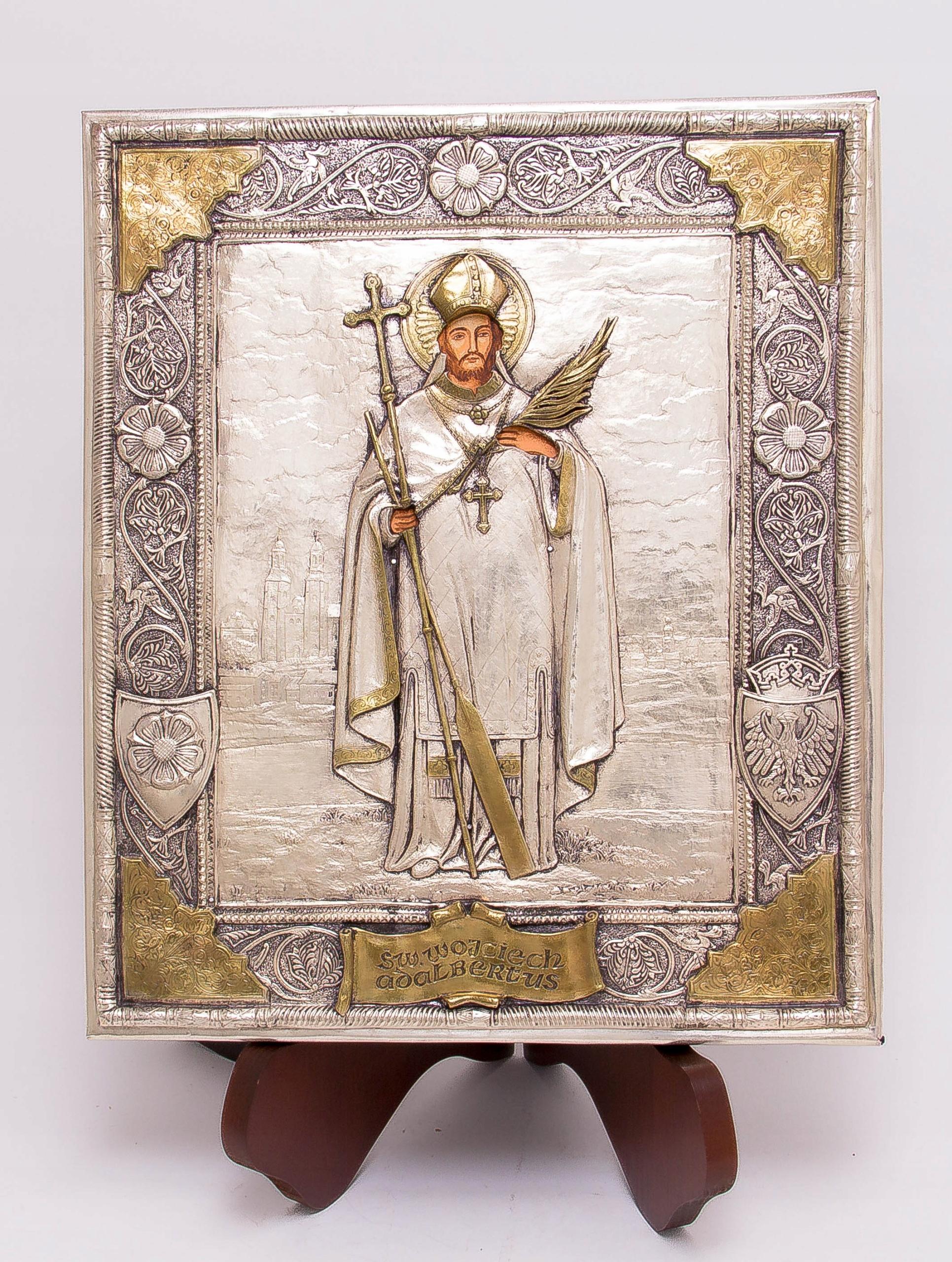 Ikona Świętego Wojciecha - patrona Polski! nr 61 Rama bez ramy