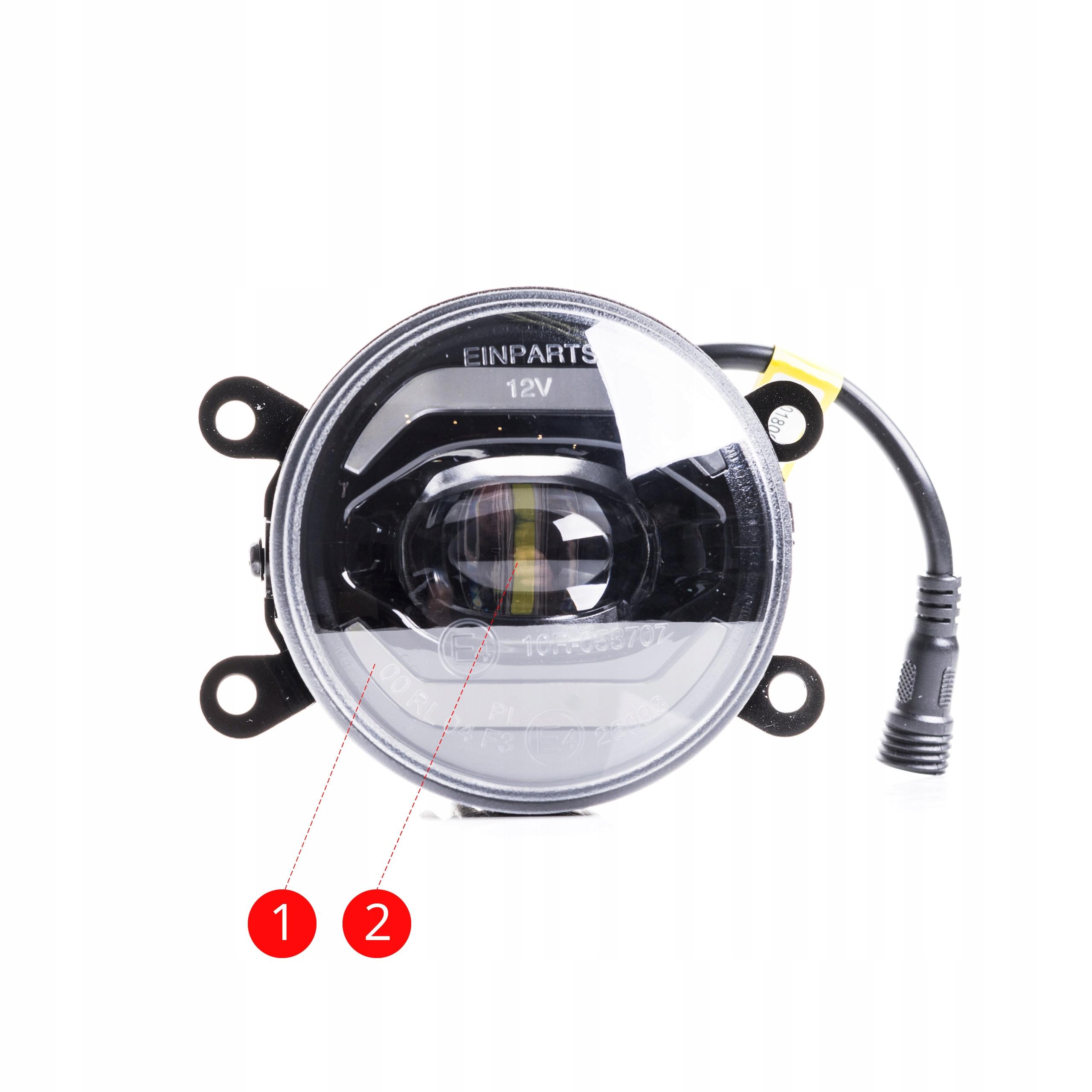 2w1 Światła dzienne okrągłe LED halogeny DUOLIGHT 5
