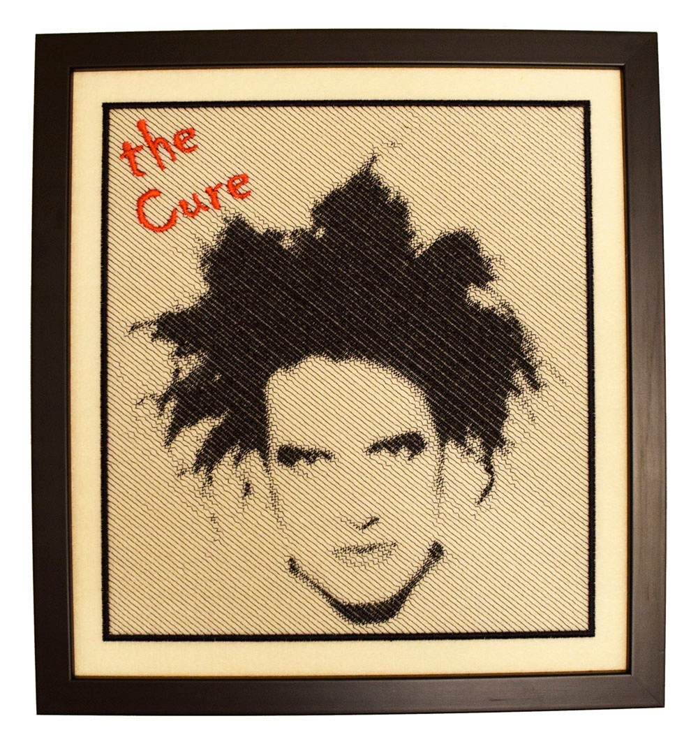Item The CURE pattern embroidered 26x38 cm