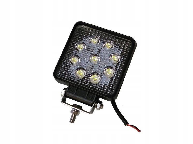 ZIBINTAS (LEMPOS-FAROS) VEIKIANTIS KVADRATAS LED 9 LED 2012M-24V