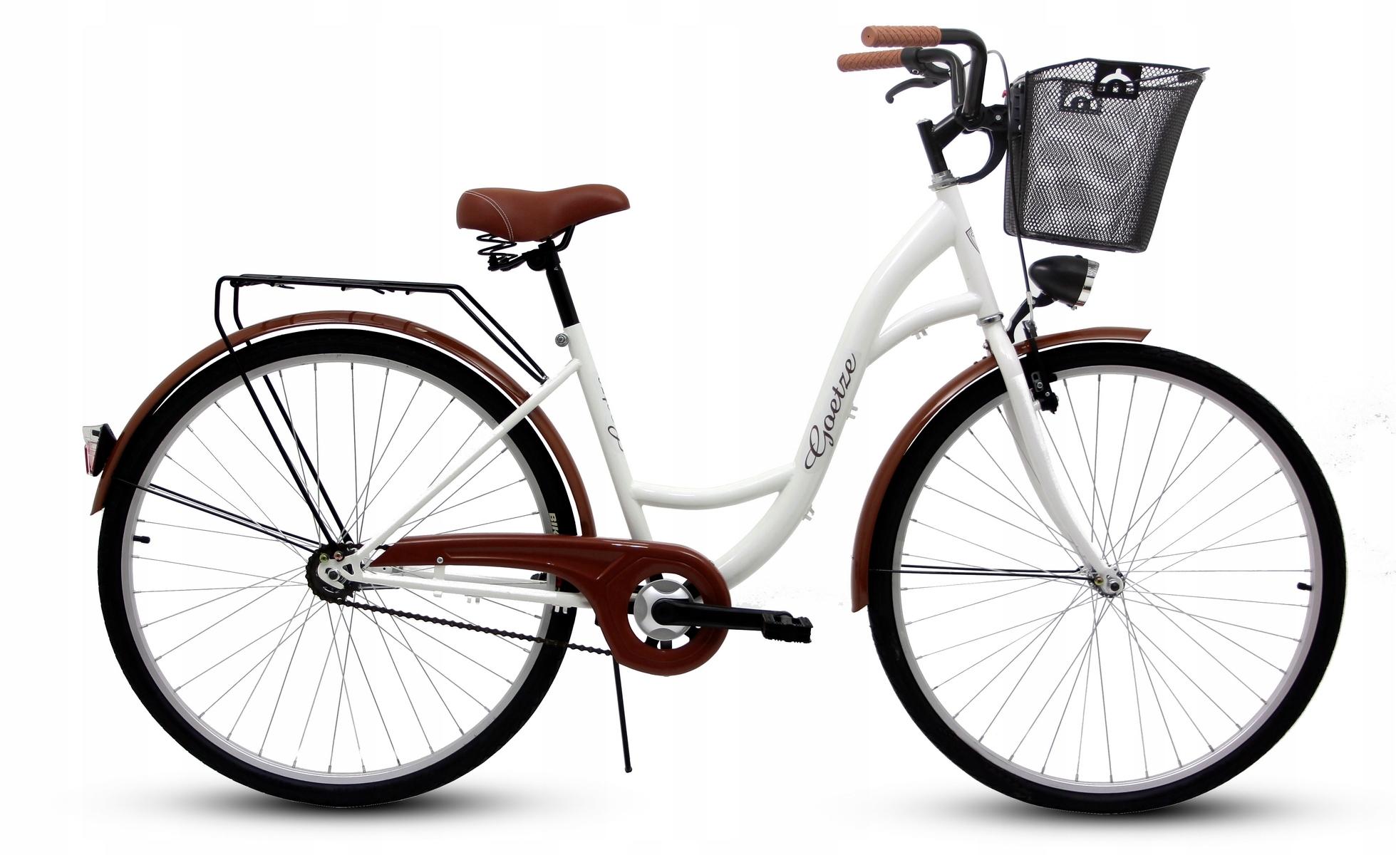 "Dámsky mestský bicykel GOETZE 28 ECO + dámsky košík !!!  Veľkosť kolies ("") 28"