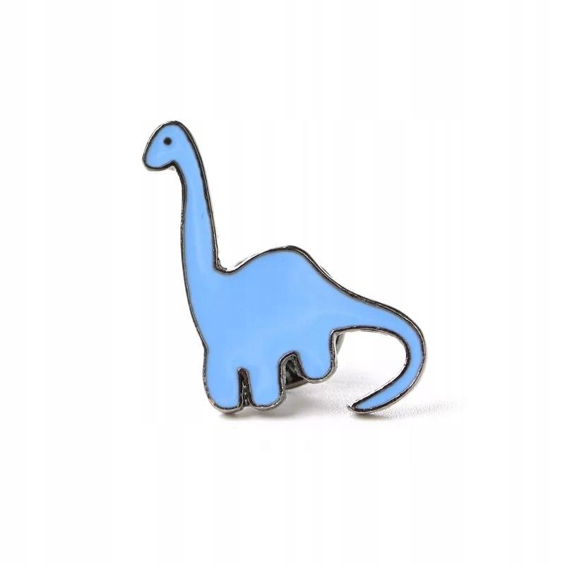Pins niebieski Dinozaur emaliowana przypinka