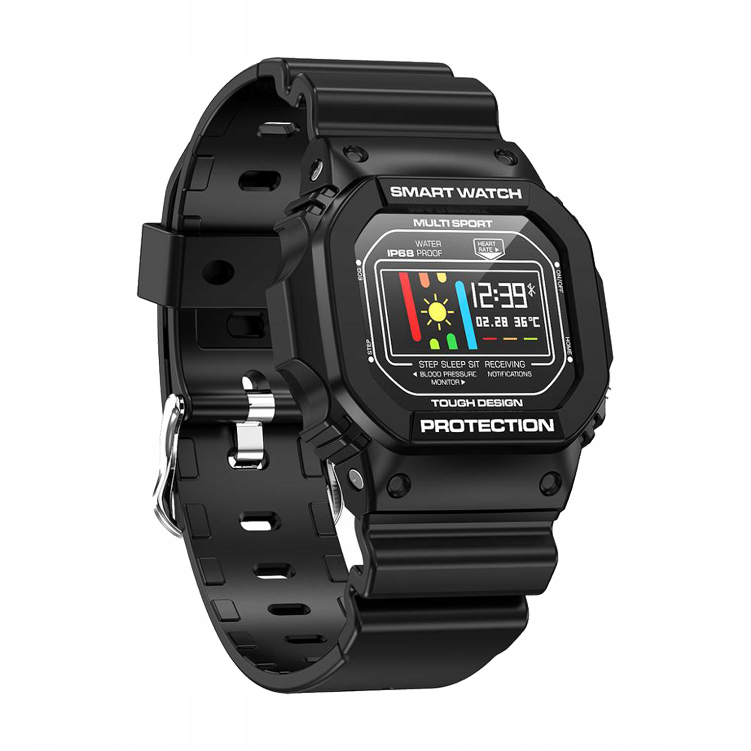 Smartwatch RETRO Dizajn Smartband EKG, tep, Kroky
