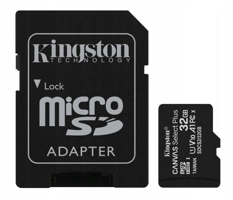 KINGSTON КАРТА ПАМЯТИ MICROSD 32GB MICRO CL10 АДАПТЕР SD