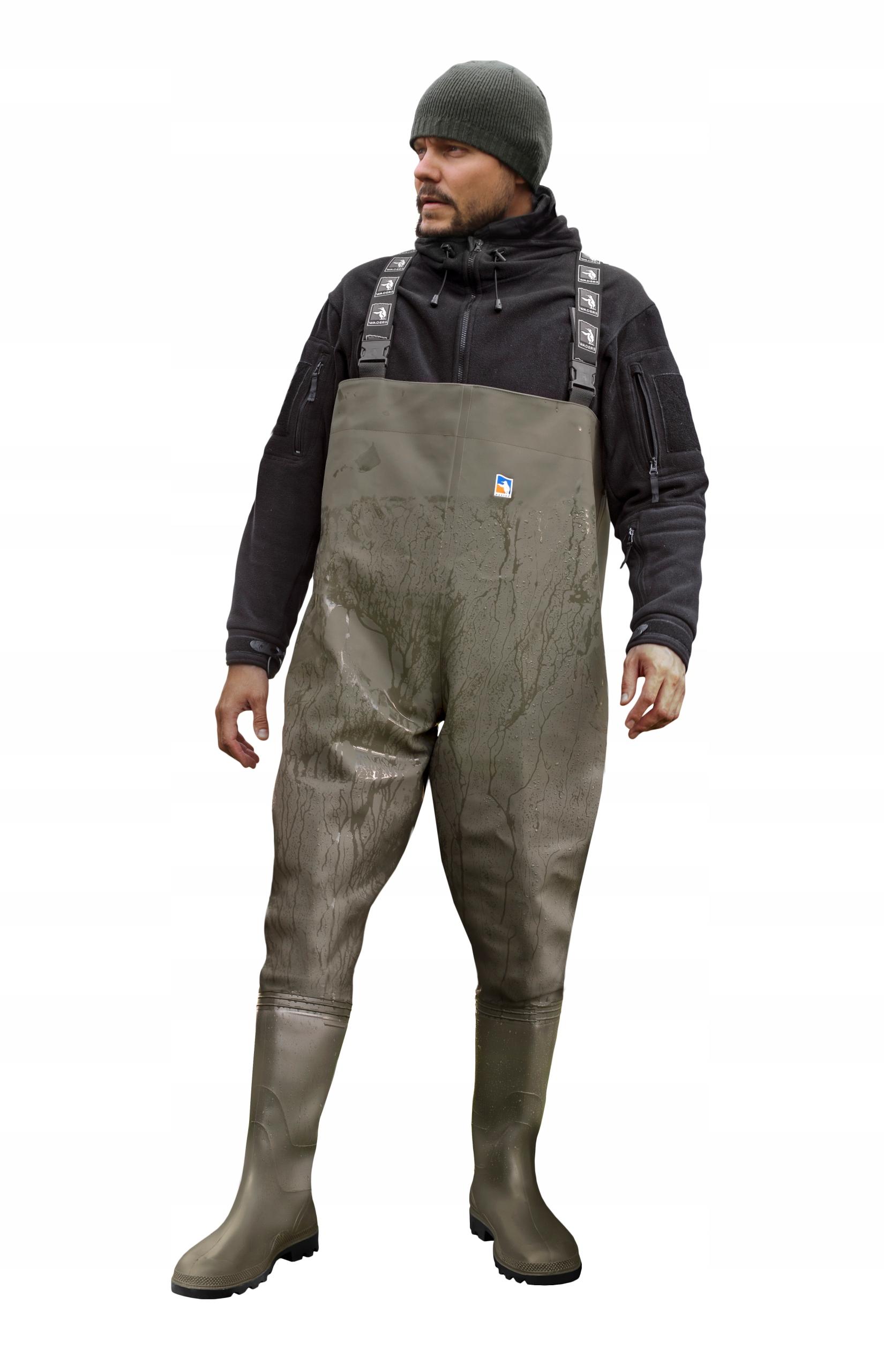 Spodniobuty Wodery Oliwka WADERS Roz. 42