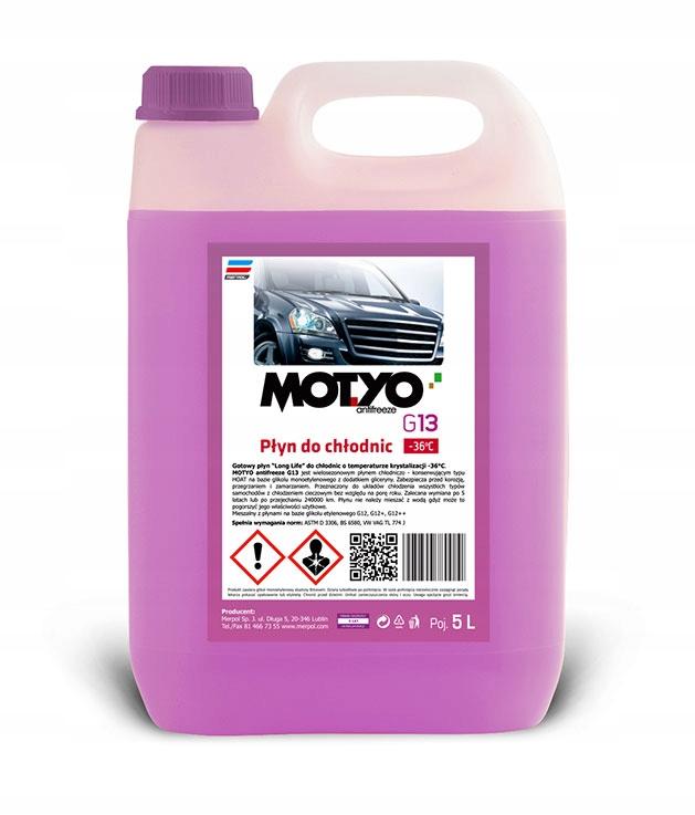 Жидкость для автомобильных радиаторов MOTYÓ HOAT G13 - 5Л