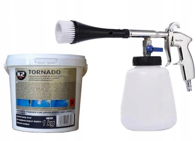 K2 Торнадо порошок для стирки обивки + ПИСТОЛЕТ