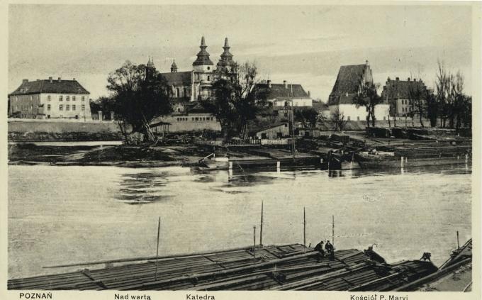 Poznań. Warta. Katedrála. Kostol P. Mary 191-?