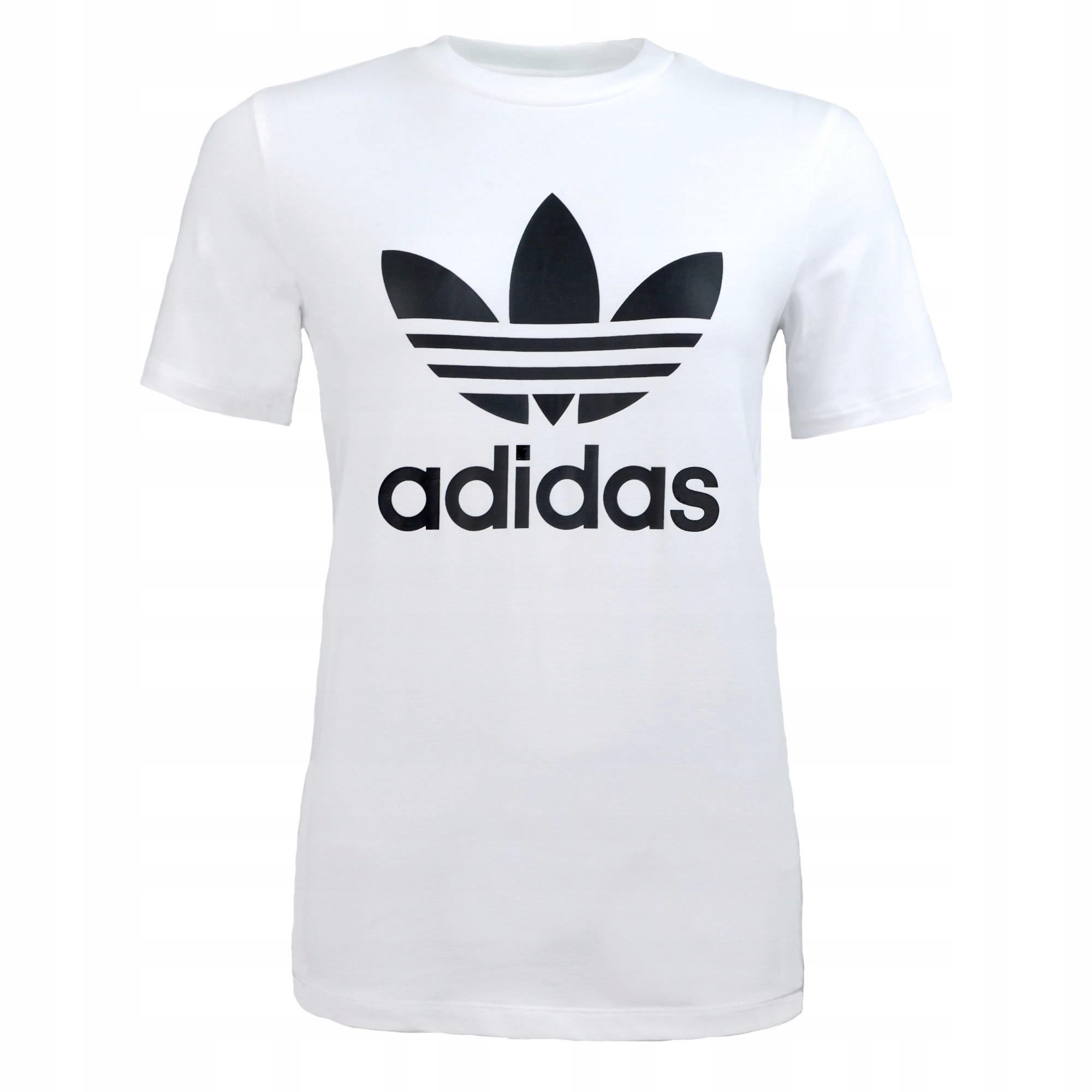 Adidas Koszulka Damska Bawełna Biała Trefoil Xs #