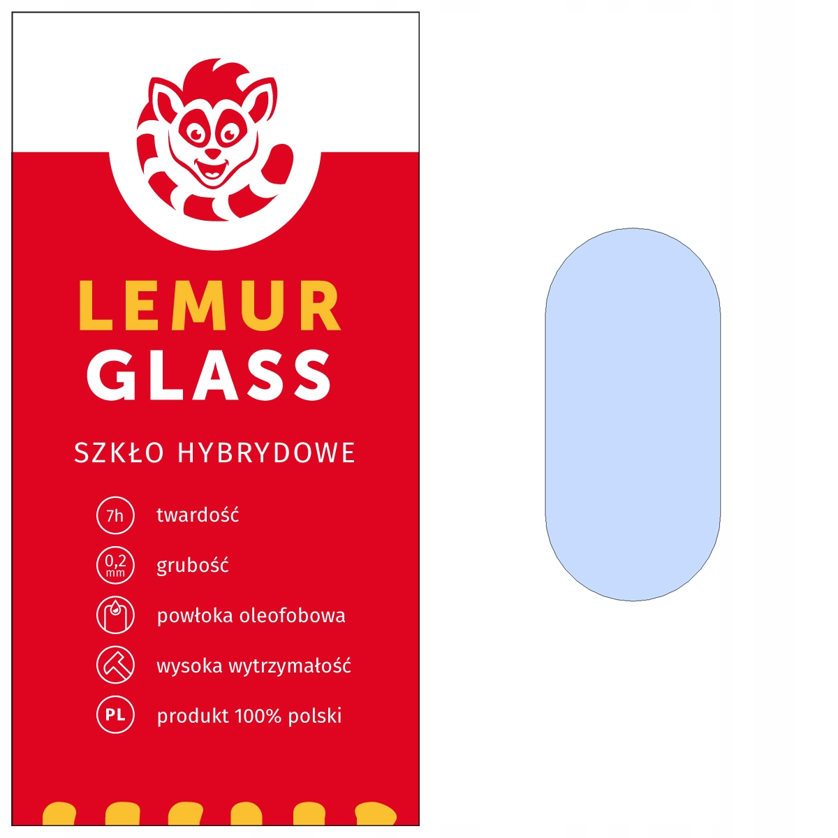 Szkło na aparat obiektyw Lemur Huawei P20
